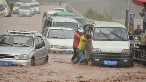 雲南彝良普降暴雨引發災害
